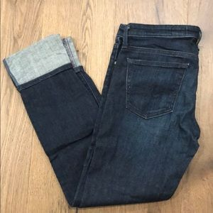 AG slim straight cuffed jeans
